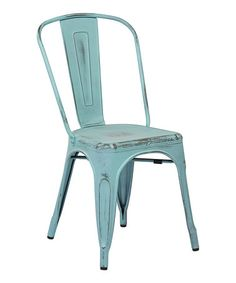 Loving this Sky Blue Armless Chair - Set of Four on #zulily! #zulilyfinds