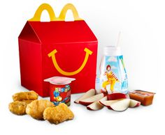 Happy kids with Happy Meal toys.
