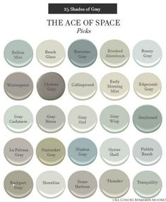 25 Shades of My Favorite Gray's - Benjamin Moore Interior Paint Colors For Living Room, Paint Colors For Home, Paint Colours, Small Bedroom Paint Colors, Magnolia Paint Colors, Indoor Paint Colors, Hallway Paint Colors, Fixer Upper Paint Colors, Best Bathroom Paint Colors