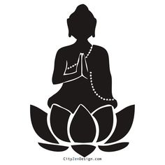 Lotus flower (without inside shading) for Buddha to sit on for thigh tattoo