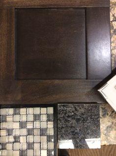 Bar Stain, granite top & backsplash