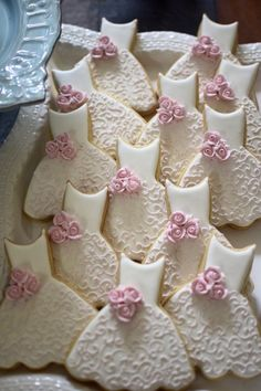Bridesmaid Dress Cookies- 10 Pieces Cookie Favors, Wedding Cookies, Bridal Shower Cookies, Wedding Dress Cookies