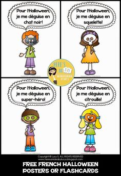French Interactive Halloween activities, a selection of French Halloween videos and a freebie!