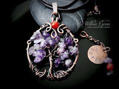 Amuleto de protección collar cobre y piedras por MyWillowGems