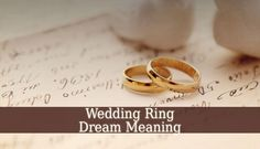 Wedding Ring Dream Meaning – dreaming about a wedding ring is not always a positive sign Sometimes it highlights issues relationship problems disappointment