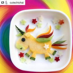Mmmhhhhhist das ein leckeres und süsses #Einhorn! Euer Bloggi Unicorn foodart This is so cute. #unicorn #einhorn #kinder #kids #kinderblog #food #foodart #fruits #healtyfood #instafood #familie #lebenmitkindern #spass #hallobloggi #bloggi