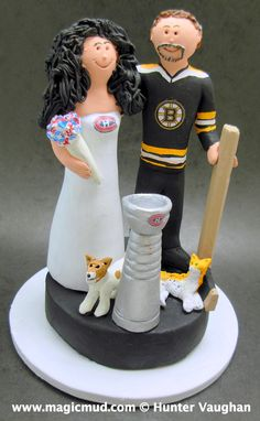 hockey goalie wedding cake topper 1000 images about hockey wedding cake toppers on 15258