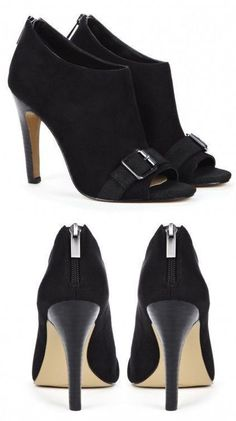 Black Buckle Ankle Boots ♥ L.O.V.E. These!!!