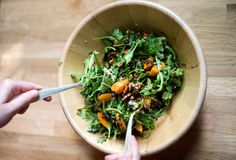 Apricot Lentil Salad Lentil Salad, Lentil Recipes, Seaweed Salad, Soup And Salad, Earthy, Whole Food Recipes, A Food, Christmas Ideas, Drink