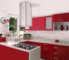Las campanas de cocina de isla hacen que el centro de la cocina sea el que predomine.