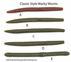 The plastics worms and flakes on pinterest for Wacky worm fishing