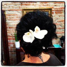 Hair up at Onda Salon by Piero Zattera