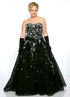 Style P2013-163   Strapless Black plus size Ball gowns