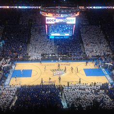 Crowd at one of the Oklahoma City Thunder home playoff games 2012