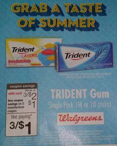 Trident Gum Just $.3