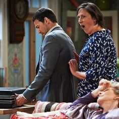 Miranda Hart (here in a hilarious scene with the handsome Dr. Gail)