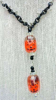 Pumpkin Jewelry, Pumkin Necklace,Halloween Jewelry,Jack O'Lantern Necklace,All Hallows' Eve Necklace,Pumpkin Y Necklace,Fall Jewelry