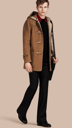 Felted Wool Blend Duffle Coat Mid Camel | Burberry