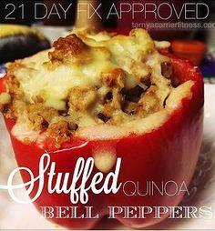 21 Day Fix Recipes, including quinoa stuffed peppers