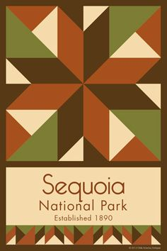 Sequoia National Park Quilt Block designed by Susan Davis. Susan is the owner of Olde America Antiques and American Quilt Blocks She has created unique quilt block designs to celebrate the National Park Service Centennial in 2016. These are the first quilt blocks designed specifically for America's national parks and are new to the quilting hobby.