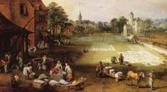 """Joos or Josse de Momper, the Younger, """"Market and Bleaching Ground,"""" 1620–22."""