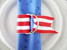 DIY Fourth of July napkin ring