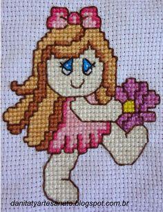 Boneca Fictional Characters, Cross Stitch Embroidery, Baby Boys, Baby Dolls, Stuff Stuff, Craft, Ideas, Bebe, Embroidery