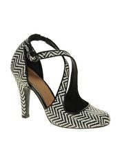 ASOS SAVANNAH High Heeled Shoes with Weave Detail and Cross Strap