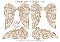 Wings of Whimsy: Angel Wings Collage Sheet #freebie #printable #wings #collage sheet