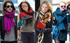 Echarpes e lenços: os melhores amigos das fashionistas na temporada de inverno - Estilo e Beleza - iG
