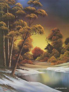 Bob Ross Autumn Paintings | golden_sunset.jpg                                                                                                                                                                                 More
