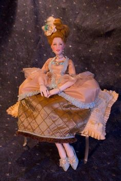 "Boudoir Doll ""Bernadette"" 27"" French All Cloth Lady Art Doll Bed Doll Gayle Wray   eBay"