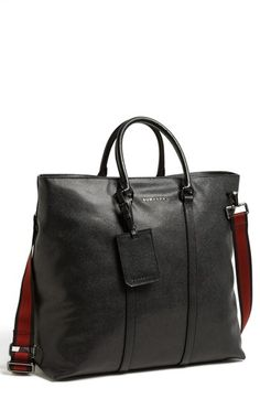 $1,695, Eastbourne Large Leather Tote Black One Size by Burberry. Sold by Nordstrom.