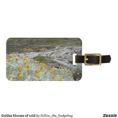 blooms of cold luggage tag - Travel Accessories, Luggage Bags, Travel Style, Ushuaia, Cold, Tags, Beagle, Initials, Channel
