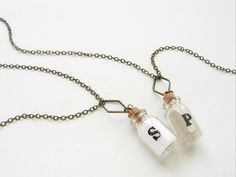 Salt and pepper best friend necklaces!