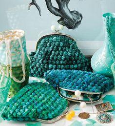Crochet a Vintage-style Bobble Stitch Clutch Purse - PDF Pattern