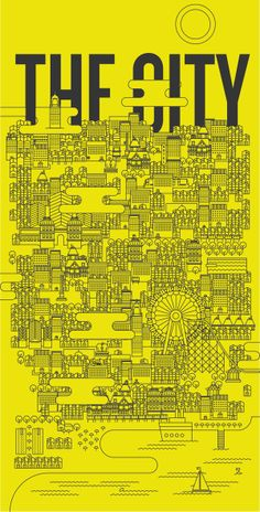 THE CITY by matteo franco, via Behance