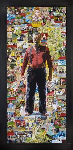 """Joe Coleman: """"Doorway to Joe"""" , Self portrait (2010)"""
