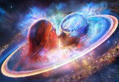 The 7 Phases Of The Twin Flames Union: Soul Recognition Twin Flame Love, Twin Flames, Flame Art, Twin Souls, Psy Art, Archangel Michael, Eternal Love, Visionary Art, Psychedelic Art