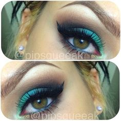 Warm Mermaid Eyes... love the brows! !