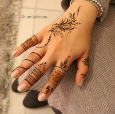 Likes, 37 Comments - Arabian Henna (حنا) ( on Instag. Khafif Mehndi Design, Mehndi Design Pictures, Mehndi Art Designs, Beautiful Mehndi Design, Henna Tattoo Designs, Henna Tattoo Hand, Henna Mehndi, Henna Art, Mehendi