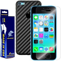 ArmorSuit MilitaryShield  Apple iPhone 5C Screen Protector  Black Carbon Fiber Full Body Skin Protector  Front AntiBubble Ultra HD  Extreme Clarity  Touch Responsive Shield with Lifetime Free Replacements  Retail Packaging -- Find out more about the great product at the image link.