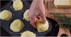 Parmesan potato snacks