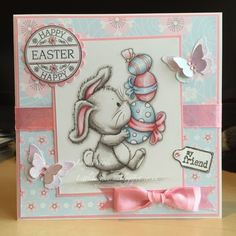 Little Lucy's Handmade Cards: Easter Eggstravaganza! Dis Digis Challenge - For T...