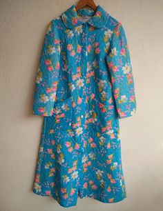 vintage robe / house coat / dressing gown / French by BOULOTDODO