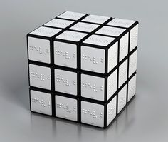 Braille Rubiks Cube  Minivan would love this!
