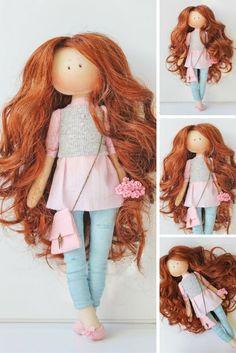 Tilda doll Interior doll Handmade doll Cloth doll Rag doll red doll Textile Fabric doll Soft doll Baby doll Art doll: https://www.etsy.com/listing/478364929/tilda-doll-interior-doll-handmade-doll