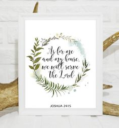 This As for me and my house we will serve the Lord Joshua Bible quote printable Scripture wall decor poster bible scriptures wall art is just one of the custom, handmade pieces you'll find in our digital prints shops. Printable Quotes, Printable Wall Art, Printable Scripture, Art Floral, Bible Quotes, Bible Scriptures, Download Digital, Scripture Wall Art, Wall Decor Quotes