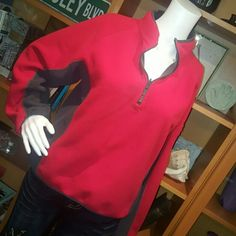 Women's fleece 1.4 zip  pullover Red and gray Columbia sportswear pullover. Very warm and cozy. Sz. S/m Columbia Tops Sweatshirts & Hoodies