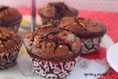 Tapitas y Postres: Brownie muffin de nutella.